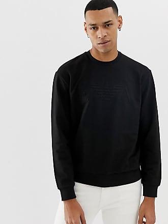 b47240f82397 Emporio Armani Sweat-shirt ras de cou avec logo en relief - Noir - Noir