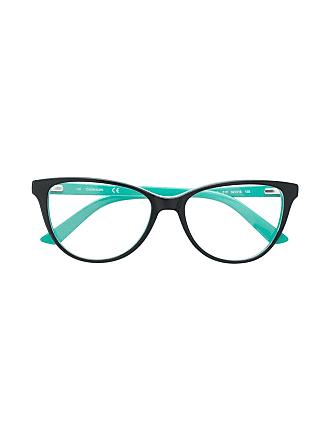 Calvin Klein Armação de óculos color block - Preto