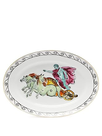 Richard Ginori X Luke Edward Hall Oval Chariot Porcelain Platter - White Print