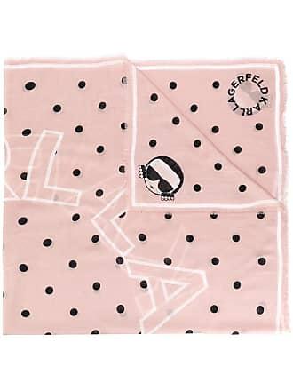 Karl Lagerfeld Echarpe Karl com poás - Rosa