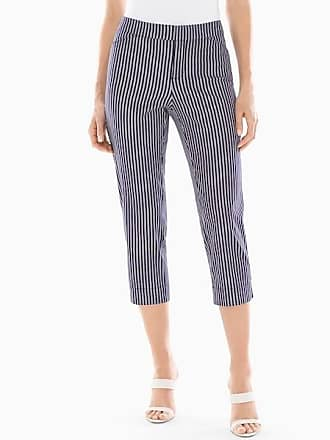 Soma Summerweight Slimming Crop Pants Destin Stripe Mini M Navy, Size XS
