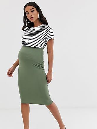 328d7d145978c Asos Maternity ASOS DESIGN Maternity jersey pencil skirt - Green