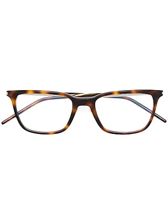 Saint Laurent Eyewear rectangular shaped glasses - Marrom