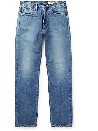 KAPITAL Monkey Cisco Distressed Denim Jeans - Blue