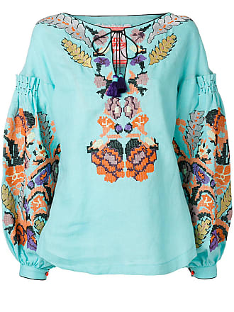 Yuliya Magdych Harvest embroidered top - Blue