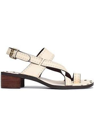 d224fdd643e0 See By Chloé See By Chloé Woman Laser-cut Leather Sandals Beige Size 35