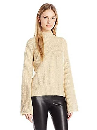 Minkpink Womens Northern Exposure Bell Sleeve Sweater Jumper, Cream Marle, Small