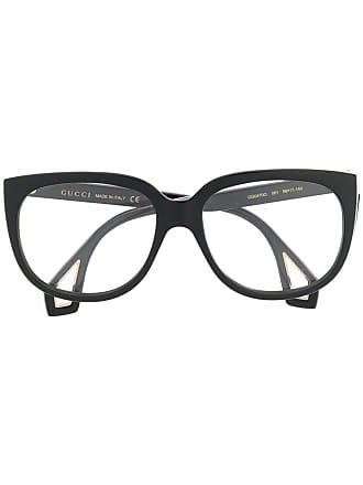 Gucci Armação de óculos retangular - Preto