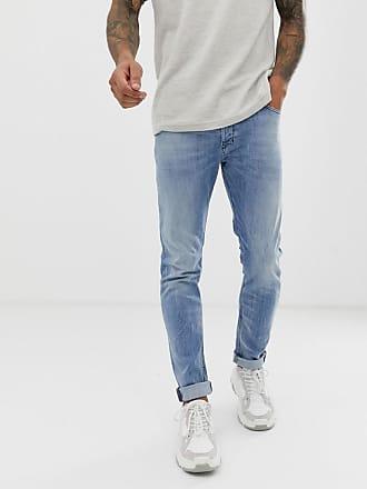 f18cd4162f1a Diesel Tepphar slim carrot fit jeans in 081AL light wash - Blue