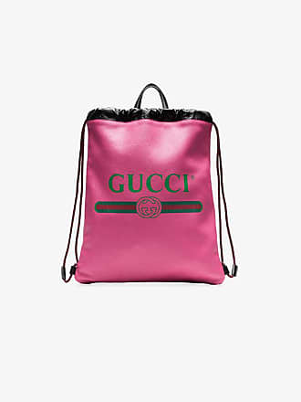 d9fc668a1cc3eb Gucci Mens Pink Logo Print Leather Backpack
