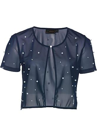 Bonprix Bolero in mesh con perle (Blu) - bpc selection premium 9060d4c1271c