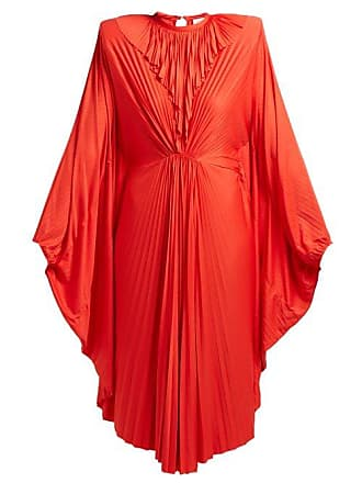 9d61e10d52 VETEMENTS Sunburst Pleated Jersey Midi Dress - Womens - Red