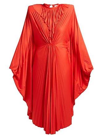 9d61e10d52 VETEMENTS Sunburst Pleated Jersey Midi Dress - Womens - Red