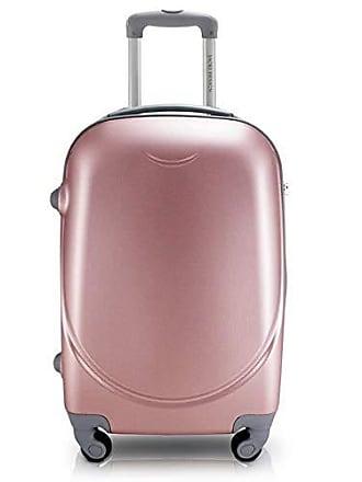Jacki Design Mala de Viagem Resistente com Rodinha Giro 360 Alça Ajustável com Segredo Jack Design Rosê