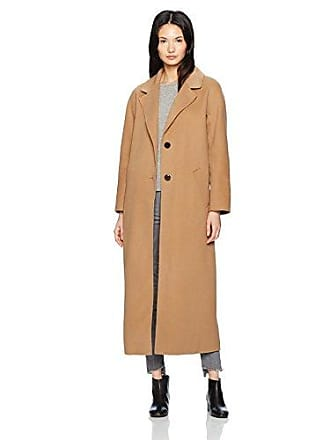 Mackage Womens Adriana Doubleface Wool Menswear Inspired Coat, Camel, XS/S