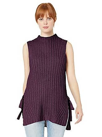 BCBGeneration Womens Sleeveless Pullover Sweater, BlackBerry, S