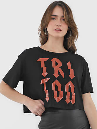 Triton Camiseta Triton Lettering Preta