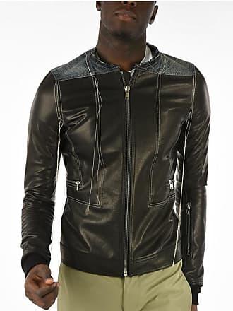 Rick Owens Leather and Denim ROTTERDAM HARNESS Jacket Größe 48