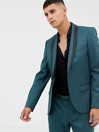 Twisted Tailor Veste de costume super ajustée à motif géométrique ... 795ae87caa1
