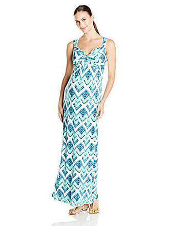 92f93ca37643d Tart Collections Womens Maternity Callie Empire Waist Maxi, Water Chevron,  Medium