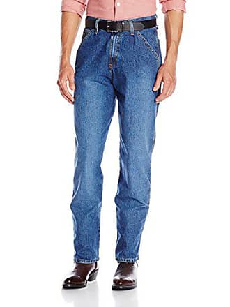 Cinch Mens Blue Label Carpenter Loose Fit Jean, Medium Stone Sandblast, 44W x 34L