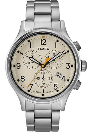 Timex Watch Mens Allied Chronograph 42MM Bracelet Silver-Tone/silver-Tone/natural Item Tw2R47600Vq