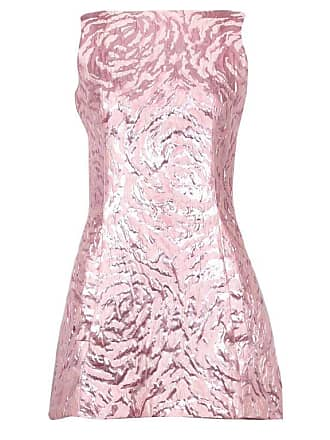 Balenciaga Sleeveless Metallic Pink Abstract Print Cocktail Mini Dress efc68ae56