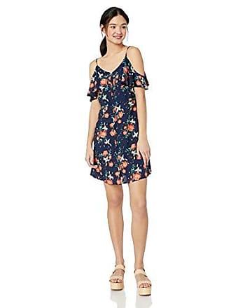cc1d9e972e60 Roxy Juniors Hot Spring Streets Printed Ruffle Sleeve Dress