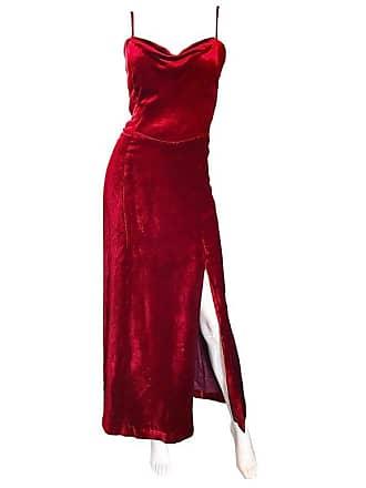 fbe745a0c76 Giorgio Armani Collezioni Vintage Crimson Red Silk Velvet Gown Size 8