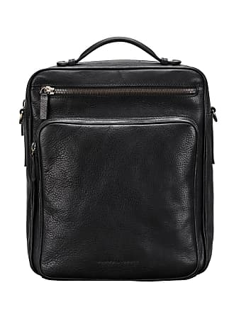 Maxwell Scott Maxwell Scott - Luxury Black Large Leather Backpack With Shoulder Strap