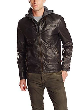 94fa178dd1ae Levi s Mens Big-Tall Faux Leather Hoody Racer Jacket