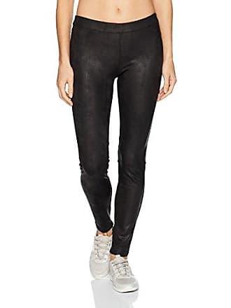 Blanc Noir Womens Leather Like Legging, Black, L