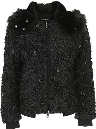 Emporio Armani Jacke für Damen Günstig im Sale, Schwarz, Polyester, 2017,  ... 4c6d53a6a1