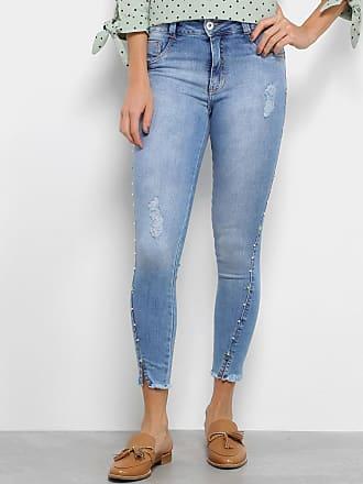 d23f22a48 Biotipo Calça Jeans Biotipo Feminino Skinny Midi Pedras Recorte Feminina -  Feminino