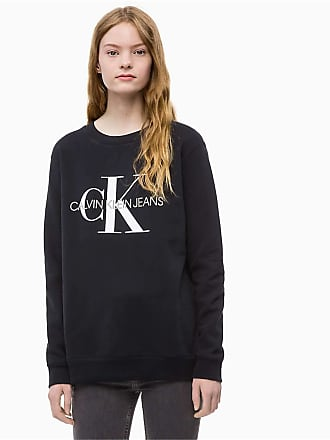 82cf7762 Calvin Klein Jeans J20J207877 CORE Logo Sweater Women Black L