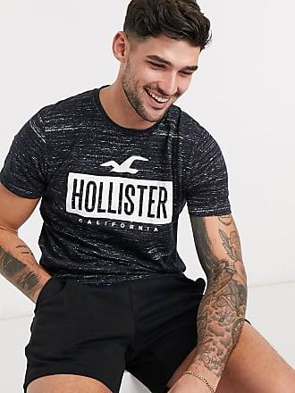 Hollister T-Shirt mit Logodruck in Schwarz