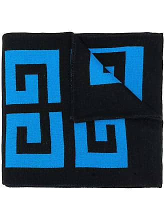 Givenchy oversized logo scarf - Azul