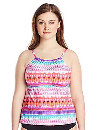 53a819b83fe 24th   Ocean Womens Plus Size High Neck Adjustable Neckline Tankini  Swimsuit Top