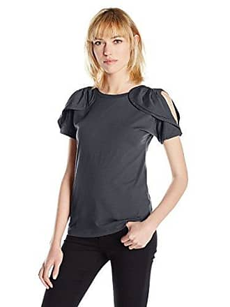 A|X Armani Exchange Womens Cold Shoudler Top, Navy X-Large