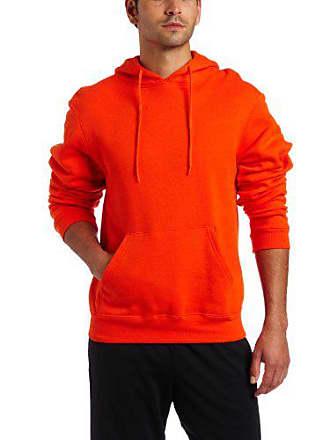 Soffe Mens Training Fleece Hooded Sweatshirt Orange X-Large
