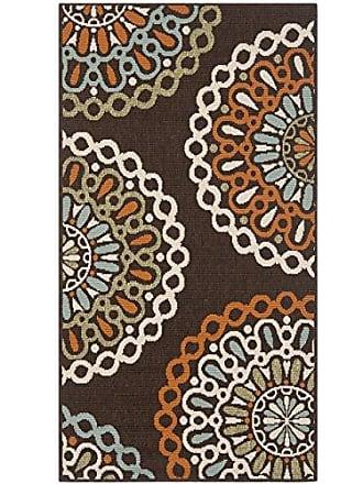 Safavieh Veranda Collection VER092-0725 Indoor/ Outdoor Chocolate and Terracotta Contemporary Area Rug (27 x 5)