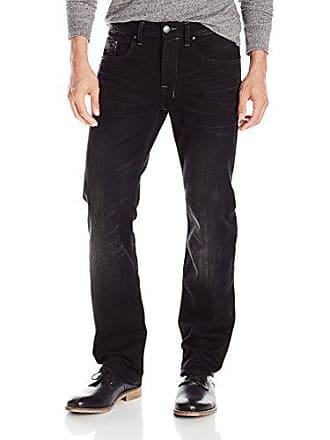 Buffalo David Bitton Mens Driven - X Straight Leg Jean, Black Lightly Sanded/Rifted, 31x32