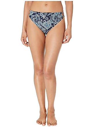 98496762d7977 Michael Kors Sweetheart Paisley High-Waisted Bikini Bottoms (Aqua) Womens  Swimwear