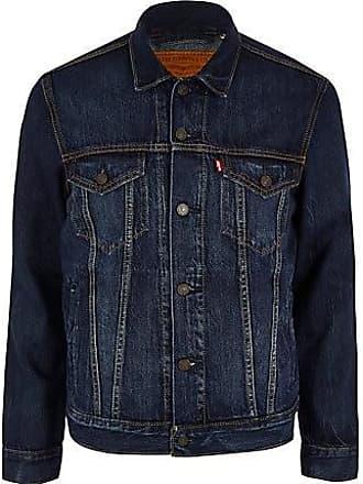 Levi's Mens Levis blue denim trucker jacket