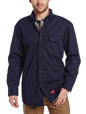 3e5d998bfc2 Dickies Mens Big Flame Resistant Long Sleeve Twill Button-Down Shirt