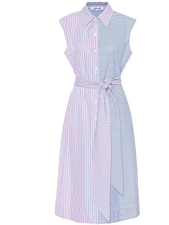 Diane Von Fürstenberg Sleeveless striped cotton dress