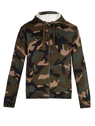 21152c18f0780 Valentino Camouflage Print Hooded Sweatshirt - Mens - Green