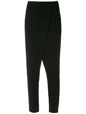 Uma wrap style Cibele pants - Black