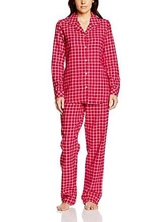 83972595738bcc Seidensticker Damen Pyjama lang Zweiteiliger Schlafanzug, rot 500, 44
