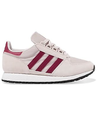 buy popular 07a90 7aaed adidas Originals Forest Grove Sneakers Aus Veloursleder Und Mesh - Grau